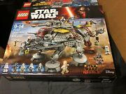 Lego 75157 Star Wars Captain Rexand039s At-te New In Sealed Box