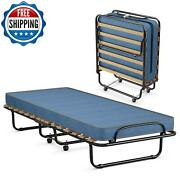 Portable Folding Metal Bed Frame With Memory Foam Mattress Outdoor Camping