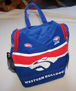 Western Bulldogs Afl Guernsey Print Insulated Lunch Box Cooler Bag New