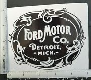 Ford Motor Co. Detroit Mich. Vinyl Decal Sticker 4325