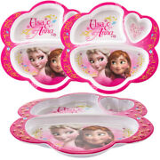 Zak 3pk Character Plastic 3-section Divided Party Plates For Kids School Lunch