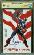 Captain America 1 Steranko Variant Cover Cbcs Ss 9.8 Wp Signed By Jim Steranko