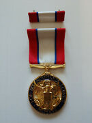 Distinguished Service Medal. Army.with Ribbon. Reproduction