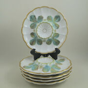 C1872 Royal Worcester Vitreous Hand Painted Set Of 5 Strawberry Serving Plates