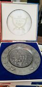 5 Limited Edition Bicentennial Pewter Plates We Are One 1776 - 1976