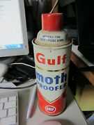 Vintage Gulf Moth Proofer Aerosol Can - Still Some Contents - Good Used Conditi