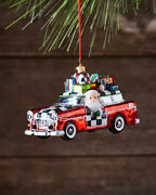 Mackenzie-childs Glass Ornament - Vacation Santa - Sold Out New In Box