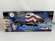 Andlsquo41 Willys Coupe Stars Stripes Red White Blue Muscle Machines 118 Scale Car