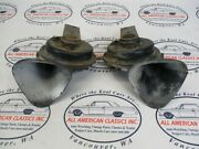 1959 Chevrolet Impala Gm Delco Remy Hi Lo Horns Oem 12v Type S Oem Sold As Pair