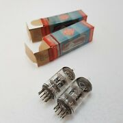 2x Ecc81 12at7 Telefunken Only Tested Nos,nib,strong,roetest