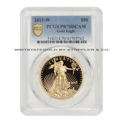 2013-w 50 Gold Eagle Pcgs Pr70dcam Proof Deep Cameo West Point Coin