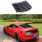 Sport Carbon Fiber Rear Vent Window Louver Cover Trim For Ford Mustang 2015-2021