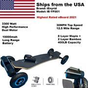 Electric Off-road Skateboard Mountainboard 30mph Highest Rated 3300w Belt Motor