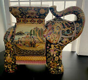 Atnq Chinese Elephant Stool/plant Stand Elaborate Detail Excellent 11andrdquo X 13andrdquo