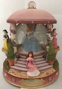 Rare Disney Revolving Princess Large Snow Globe Musical With Lights Excellent