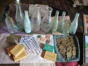 Vintage Lot Of 9 French Lick Indiana Pluto Spring And Twin City Milk Bottles