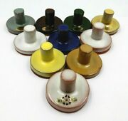 Vintage Set Of 10 Rycraft Holiday Arts And Crafts Ceramic Mold Cookie Press/stamp