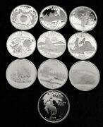 10 Mixed Proof State Quarters Dates And States Below