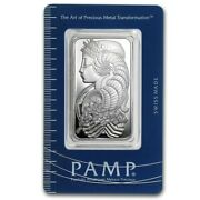 1 Oz Pamp Suisse Lady Fortuna Silver Bar .999 Fine Silver With Assay Certificate