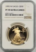 1995-w Gold Eagle G50 Ngc Pf 70 Ultra Cameo One Ounce 1 Oz Fine Gold