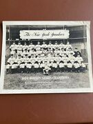 1939 New York Yankees Baseball Worldand039s Series Champions Lou Gehrig Signed Ace