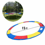 15 Ft Trampoline Safety Pad Spring Cover Frame Replacement Multi Color