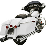 Harley Bassani - Exhaust Dnt Straight Can Slip-on Mufflers 4 Touring 17-19