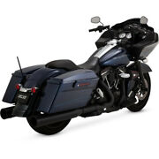 Harley Vance And Hines Oversized 450 Exhaust Touring 99-16 Black Slip-on