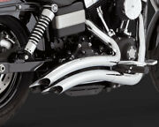 Harley Vance And Hines Big Radius Chrome Dyna 06-17 2 In 2 Exhaust System