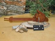 Replica Miniature Mcculloch Model 325 Chainsaw Cottonwood Bark Wood Carving Art