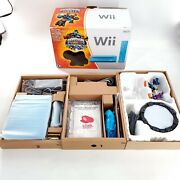 Nintendo Wii Limited Edition Blue Console System, Skylanders Giants-read