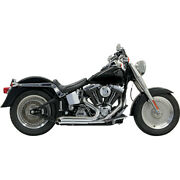 Harley Bassani - Exhaust System Pro Street Turn Out 86-17 Softail Fat Fx Chrome