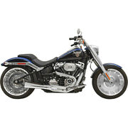 Harley Bassani - Exhaust System Road Rage 21 Softail 18-20 Chrome Fxdr Fat M 8