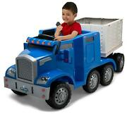 Kid Trax Semi-truck And Trailer Ride-on Toy Blue, Rig