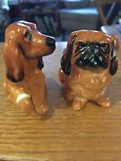 Royal Doulton Pekingese And Spaniel Small Vintage Figurines Both Mint