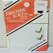 Precision Scale 4348 O Brass Steam Locomotive Pipe Brackets 2 In Package