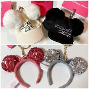 Tokyo Disney Resort Mickey And Minnie Hair Band And Hat Key Chain 5-piece Set