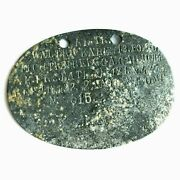 Ww1 German Officer Dog Tag Id - Battle Wwi Militaria Collectibles Relic Prussian