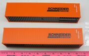 Menards O Scale 40-foot Schneider Containers 2-pack