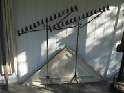 Antique Wrought Iron Candle Holders