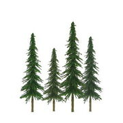 Jtt Scenery Products 92025 Z 1-2 Super Scenic Spruce Trees Set Of 55