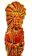 Ezra Brooks 1968 Cigar Store Indian Collectors Series Whiskey Decanter