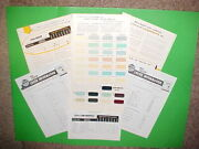 1956 1957 Lincoln Continental Mark Ii Paint Chips Color Chart Brochure Catalog