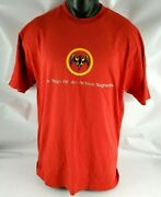 Vtg Bacardi Rum The Sign Of An Active Nightlife Logo T-shirt Adult Sz Large L