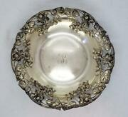 And Co Sterling Silver Pierced Flower Ornate Candy Dish Bowl 16576b 16576