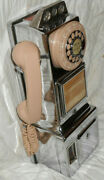 Nice Vintage 50's Automatic Electric Chrome Rotary Dial Payphone W/ 3 Coin Slot