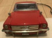 Nomura Toy Tin Tinplate Mustang Ford Model Car Vehicle Red Made In Japan Used