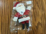 Pottery Barn Kids Rudolph Santa Plush Christmas Light Up Ornament New Sold Out