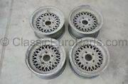 14and039and039 7j 5x120 Bbs Mahle Ra Wheels For Bmw E3 E9 E12 E23 E24 E28 With Defects