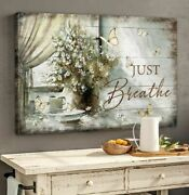 Jesus Just Breathe Vintage Poster No Frame Gift Home Wall House Decor